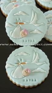 leylekli erkek bebek kurabiye