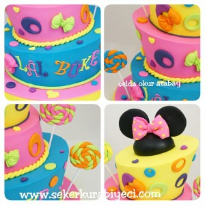minnie mouse topsy turvy cakes