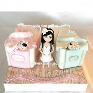 ikiz bebek pastası